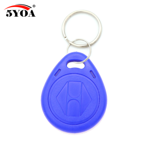 Image 4 - 100pcs Blue RFID 125 khz EM4100 Key Tag Keyfobs Ring Chip Keytab TK4100 Tags 125khz Read Only