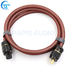 PAPRI HIFI MPS M-6MK2 AC 99.9997% OCC Silver Plated AC Power Cable Amplifies Audio Power Cord Gold Plated Connector Plugs DVD CD