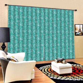 Green curtrains flower 3D Blackout Window Curtains For Living Room office Bedroom Drapes Cortinas