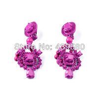 Violet Coating Clip On Earrings