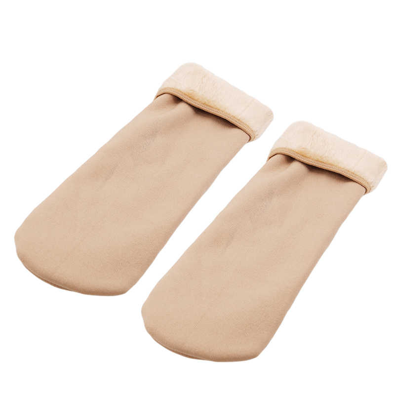 New Wool Cashmere Socks Solid Colors Women Winter Warm Thicken Thermal Casual Socks Home Snow Boots Velvet Floor Socks