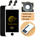 50 unids 100% highscreen clon de prueba para iphone 5c pantalla lcd con touch digitalizador asamblea reemplazo blanco negro, freeshipping