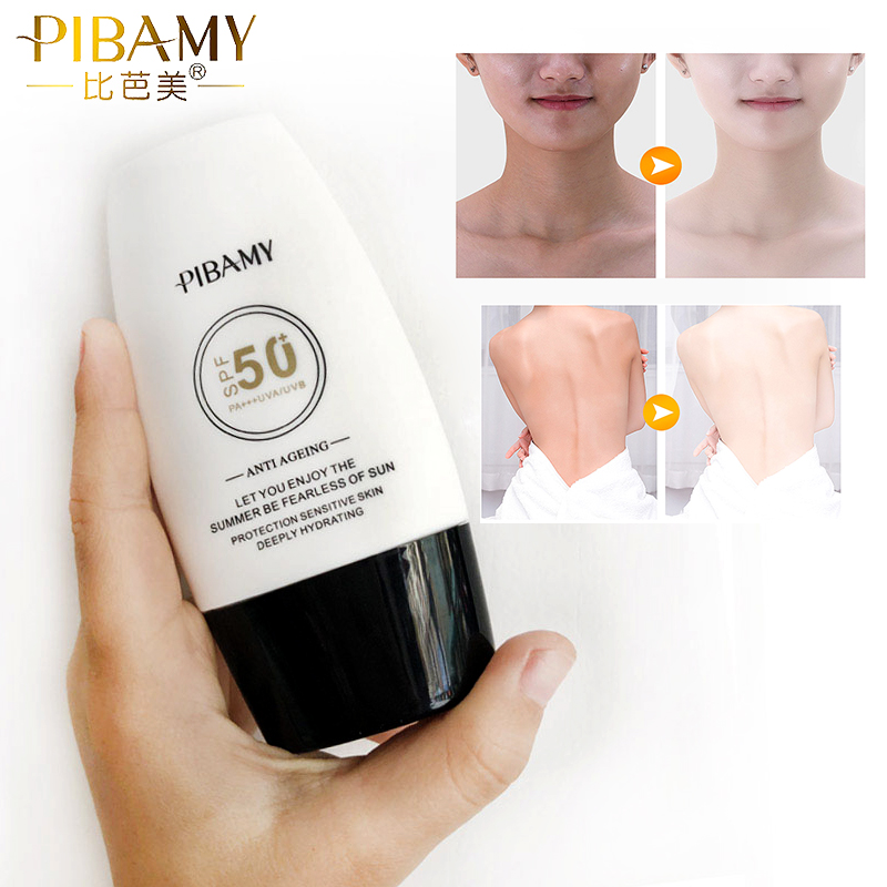 PIBAMY Sun Protection Sunscreen Protetor Whitening Uv Radiation Solar Sunscreen Cream body Sunblock Lotion Sun Screen Sunblock(China)