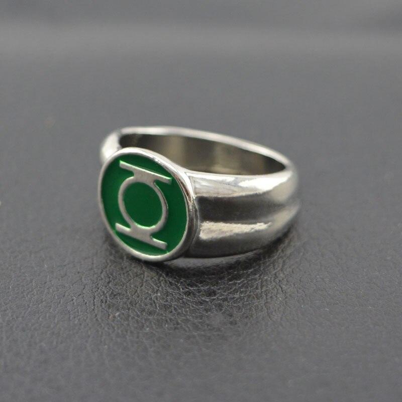 Dc Comics Green Lantern Ring Silver For Mens Movie Jewelry Replica