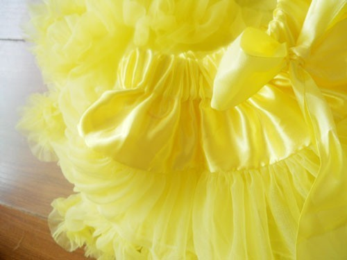 Юбка-американка для девочек Петти юбка-пачка для танцев желтый цвет пышная Мягкая юбка Юбка-пачка для девочек
