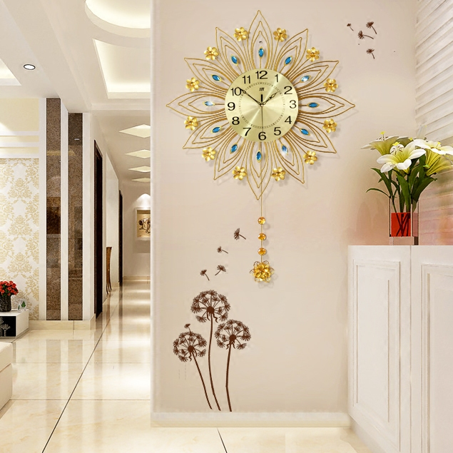 Online buy wholesale rhinestone wall clock from china - Relojes grandes de pared ...
