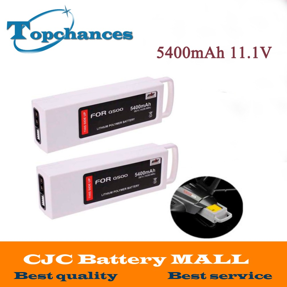 2x 5400mAh 11.1 Volt Lipo Battery For Yuneec Q500 Series RC Drone 11.1V 3S/3Cell yuneec q500 battery 5400mah 3s 11 1v lipo battery