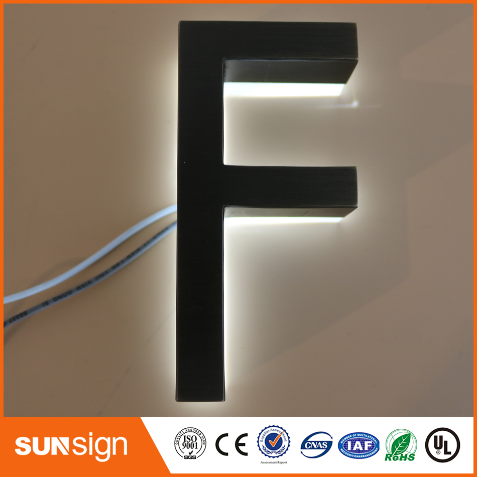 Factory Outlet Outdoor Archaize Stainless Steel LED 3d Letter Sign Logo