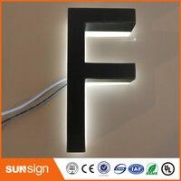 Factory Outlet archaize aço inoxidável Ao Ar Livre LEVOU carta sinal 3d logotipo
