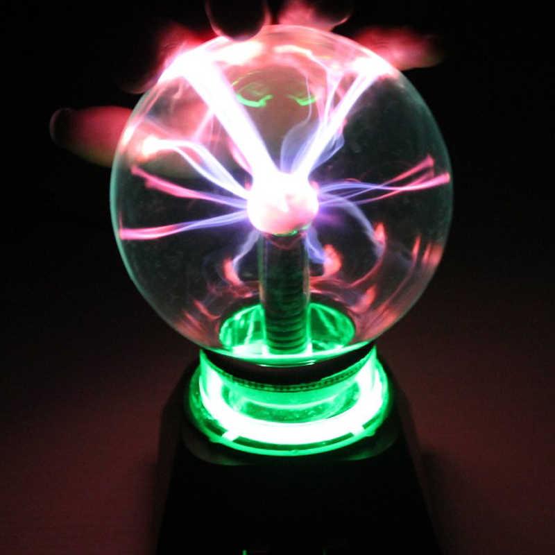 """Новинка огни 3 4 5 6 """"дюймов волшебный плазменный шар коробка освещения лава лампа для детей подарок Глобус ночник рядом с лампой"""