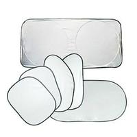 6pcs Set Car Styling Folding Front Rear Car Window Sun Shade Car Windshield Visor Cover Block