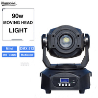 moving 90w gobo Light led dmx 512 control mini dj diso moving head prism