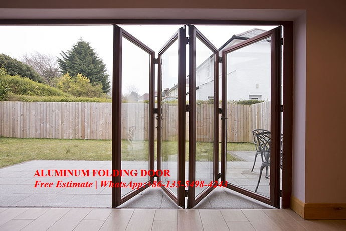 Bi-Fold Glass Door System Smoothly Maximize The Opening Space,soundproof,Interior Room Dividers Insulated Glass Door