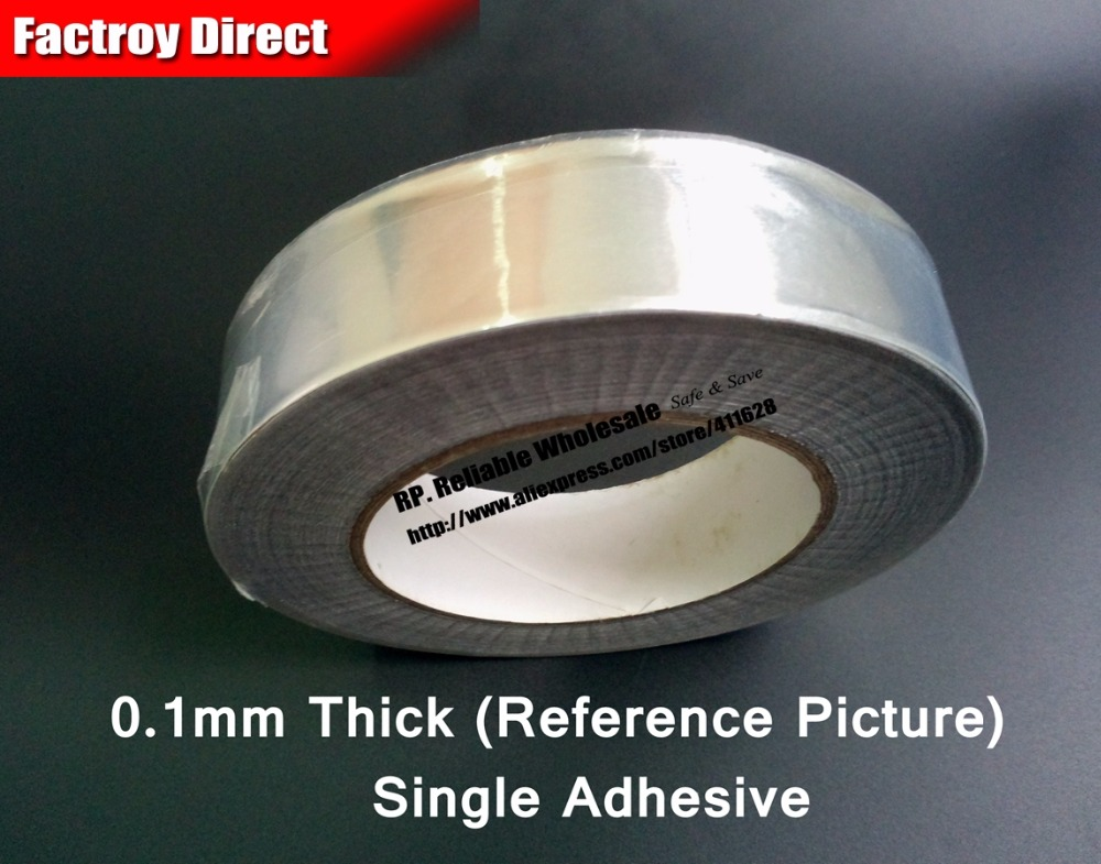 0.1mm thickness 45mm One Side Heat Transfer Waterproof Aluminum Foil Sticky Tape fit for Kitchen, Refrigerator, Pipe Wrap 0 14mm thick 60mm 25m one face heat transfer waterproof aluminum foil sticky tape fit for fix kitchen