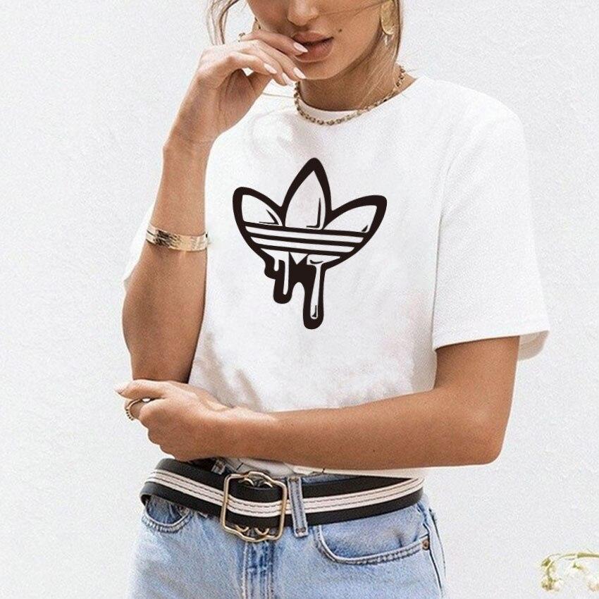 Большой размер Новый Harajuku с принтом любви женские футболки Повседневная футболка Femme Летняя женская футболка с коротким рукавом женская одежда