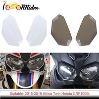 CRF1000L Motocicleta Frente Farol Lente Cobertura de Tela Guarda Protector para 2016 2019 Honda CRF CRF 1000L Africa Twin 1000 L|Molduras ornamentais e capas| |  -