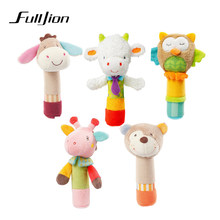 Fulljion Baby Rattles Mobiles Toddler Toys Cute Animal Plush Stroller Doll Bed Bell Christmas Crib For Baby Toys 0-12 Months Fun(China)