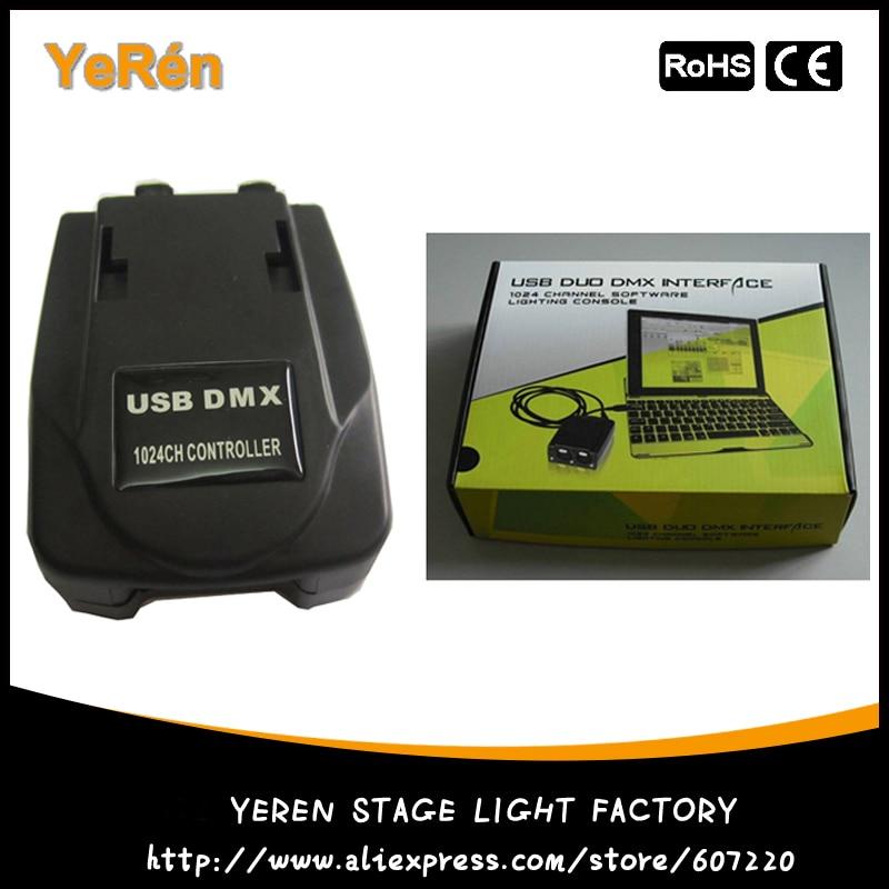 USB DMX 1024 Channels Software Light Jockey Lighting DMX Controller DMX Console ...