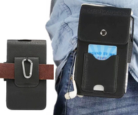 Holster Belt Clip Mobile Phone Leather Case Dual Pouch For Nokia 5 Oukitel U7 Max K6000