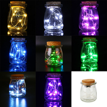 Садовый jar стеклянная фея бутылка висит декор свадьба батареи лампы