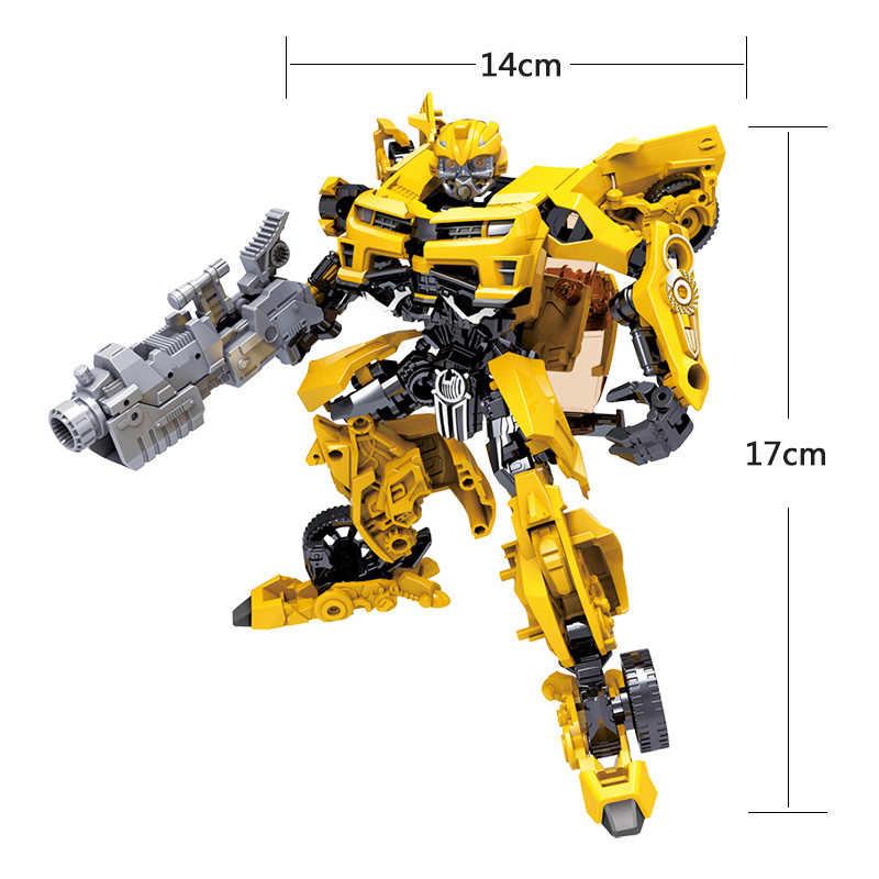 Robot de juguete para niños, de transformación de la serie Anime juguete, figura de acción, juguete de Robot de 2 tamaños, modelo de plástico ABS, figura de acción, juguete para niños