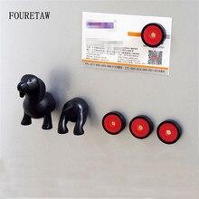6 Piece/Set FOURETAW Cute Animal Sausage Dog Dachshund Kids Education Fridge Magnets Souvenir Message Leave Magnetic Stickers