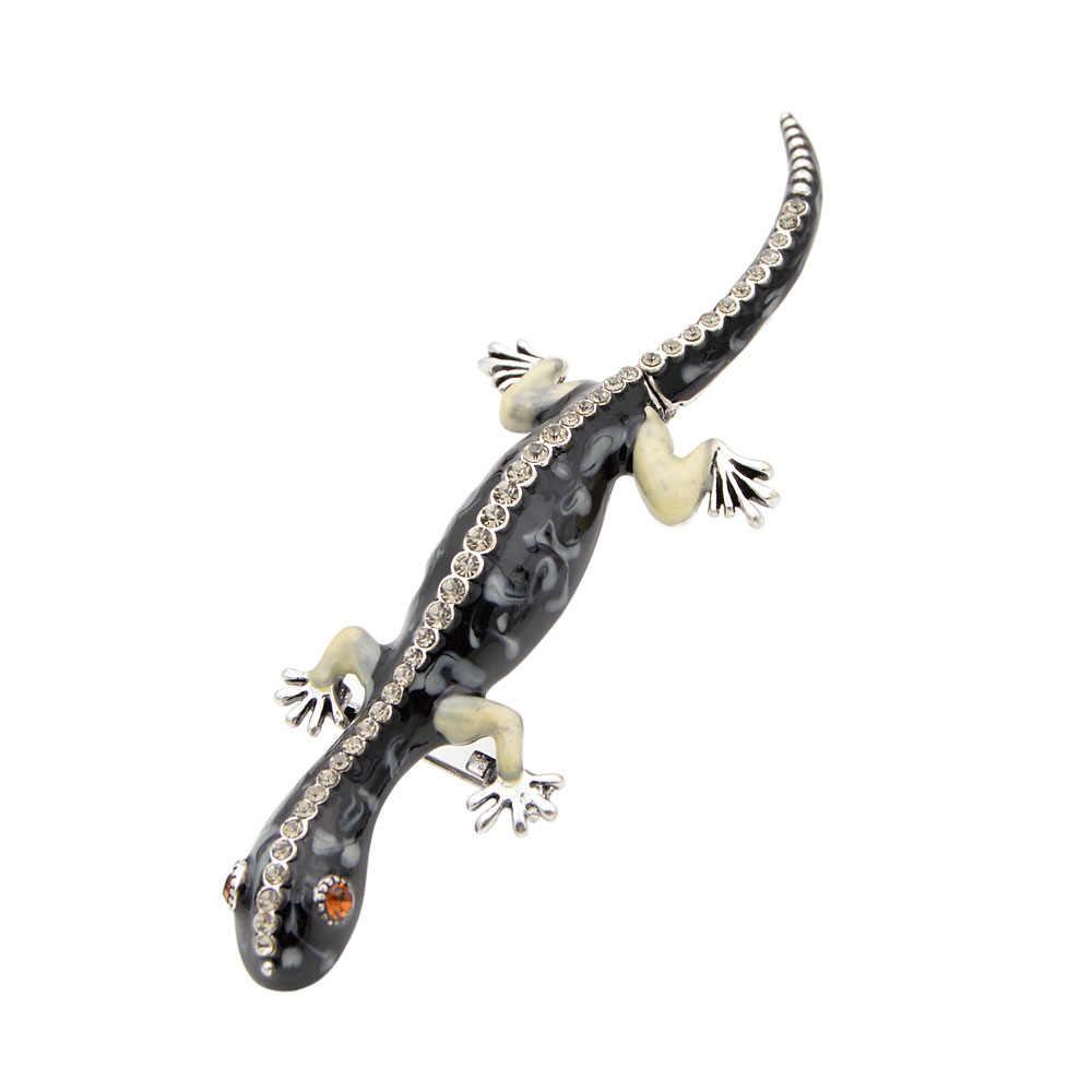 Cinkile Baru Fashion Enamel Hewan Bros Warna Biru Lucu Wanita dan Pria Kadal Bunglon Gecko Bros Pin Kualitas Tinggi Perhiasan
