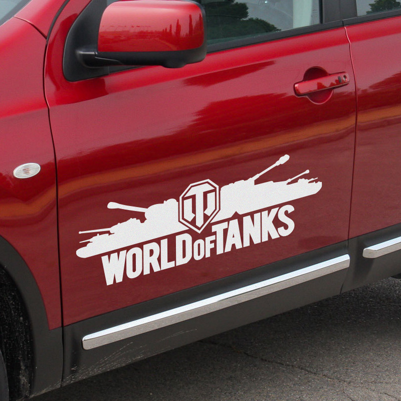 1 Pair Customizable WORLD OF TANKS Door Stickers Decal Car-Styling For vw audi ford bmw Benz opel Nissan SEAT car accessories