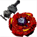 Peonza Beyblade Metal Fusion Top Metal Master Fight BB116-D Fang Leone W105R2F + L-R Starter Launcher + Hand Grip+Light Launcher