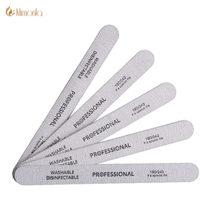 Image 1 - 10pcs/lot Sandpaper Nail File for gel nails 180/240 Professional Manicure Buffer Pedicure Double sided set de limas Nail Tools