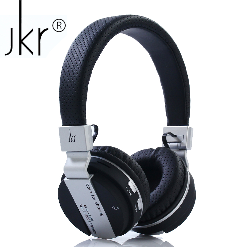 JKR 219B Wireless Bluetooth Headphone Folding Stereo Music Headset with Mic TF FM Radio Headphone Earphone for Smart Phones PC