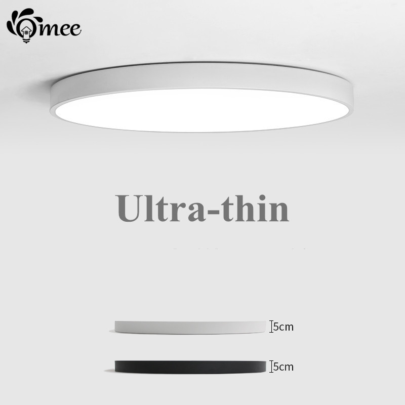 Us 15 03 10 Off Nordic Modern Round Led Ceiling Lamp 5cm Thin Foyer Lighting Fixture Living Room Bed Kitchen Surface Mount Panel Remote Control In