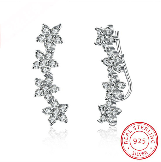 aa7c3f670a1 wholesale 2018 New 925 sterling silver 100% Original Crystals From Austrian Bella  Mini Piercing Earrings Party 925 Jewelry