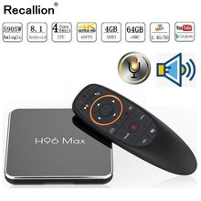 H96 Max x2 Voice Smart TV BOX Android 9.0 Amlogic S905X2 LPDDR4 Quad Core 4GB 32GB 64GB 2.4G&5GHz Wifi 4K Set top box PK X96 MAX