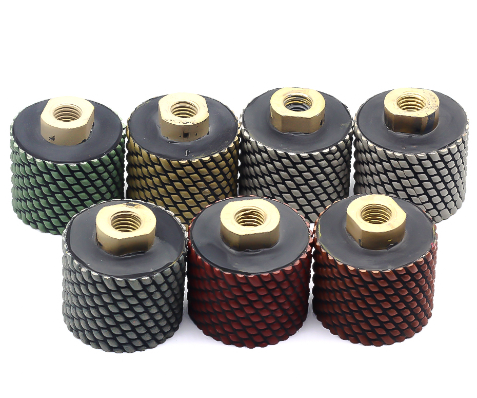 Free shipping dry diamond drum wheels 2 inch M14 thread for polishing and grinding sink hole granite and marble
