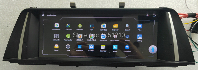 Ouchuangbo android 9.0 voiture radio gps navigation pour 5 série F10 F11 avec 1080P vidéo 8 core 4GB + 64GB