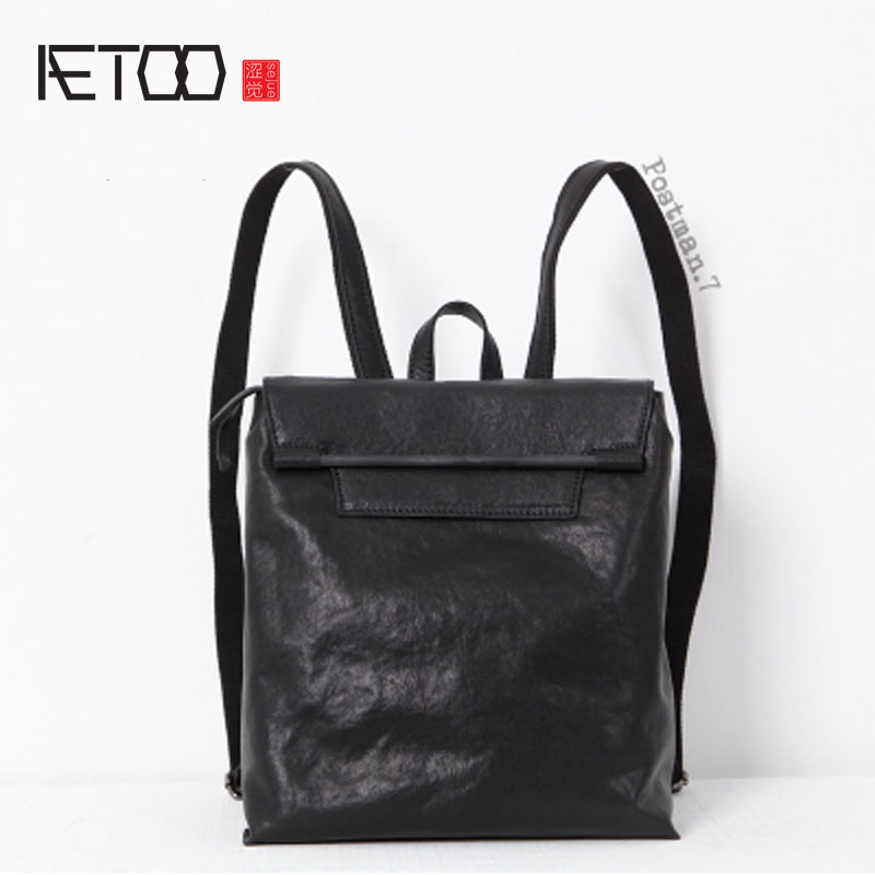 AETOO  New Japan and South Korea Leisure College wind tanning sheepskin leather shoulder bag art female backpack travel bag fema