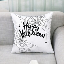 Household Halloween Theme Cartoon Pattern Personality Flax Practical Sofa Pillow Case Holiday Decoration недорго, оригинальная цена
