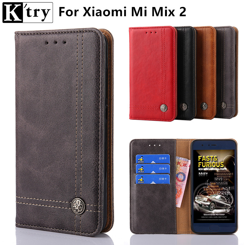 K'try For Xiaomi Mi Mix 2 Case Luxury Wallet PU Leather Case Fashion Flip Card Hold Phone Cover Bags For Xiomi Mi Mix2