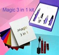 Магия 3 в 1 Воск испаритель ручка комплект сухой травы электронные сигареты с распылителя mt3 Стекло распылитель evod Батарея