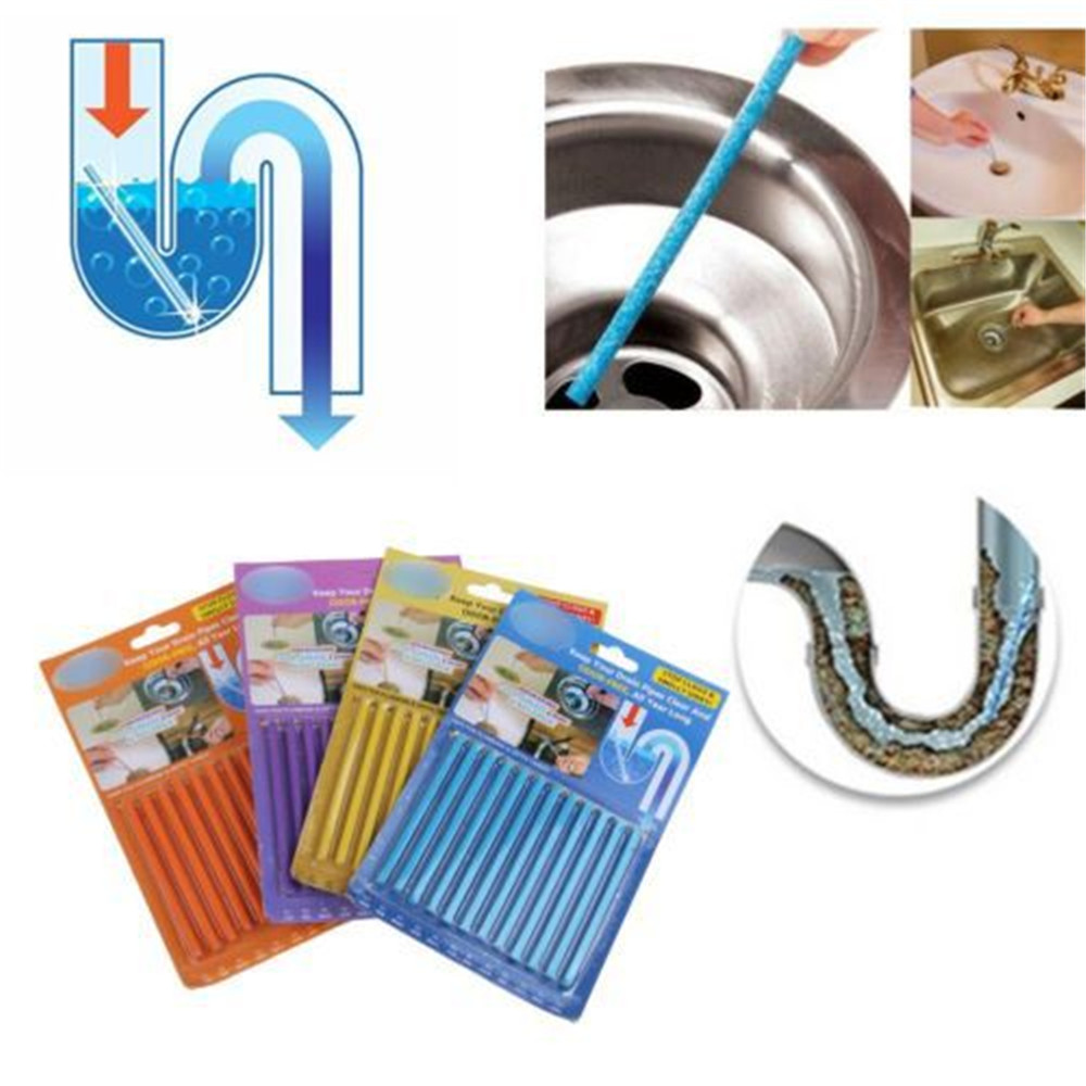 Abflussreiniger Nett 12 Teile/satz Abwasser Dekontamination Zu Deodorant Die Küche Wc Badewanne Abfluss Reiniger Kanalisation Reinigung Werkzeuge