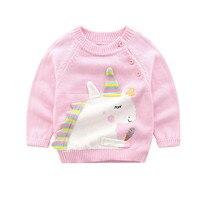 fc57f6d0b Baby Girl Clothes Long Sleeve Unicorn Print Sweater Boys Girls Autumn Warm  Outerwear Children Clothing Unicorn. Menina Roupa ...