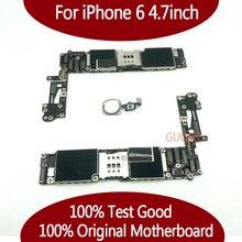 IPhone 6 için test iyi çalışma orijinal fabrika Unlocked iPhone 6 için anakart mantık kurulu anakart ile dokunmatik kimliği
