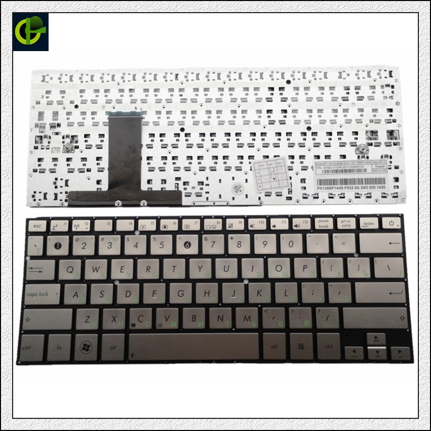 Russian New Keyboard For ASUS UX31LA UX31 UX31A UX31E UX32L Silver RU Laptop