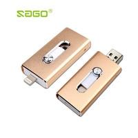 Sago I Flash Drive 8gb 32gb 64gb Mini Usb Metal Pen Drive Otg Usb Flash Drive