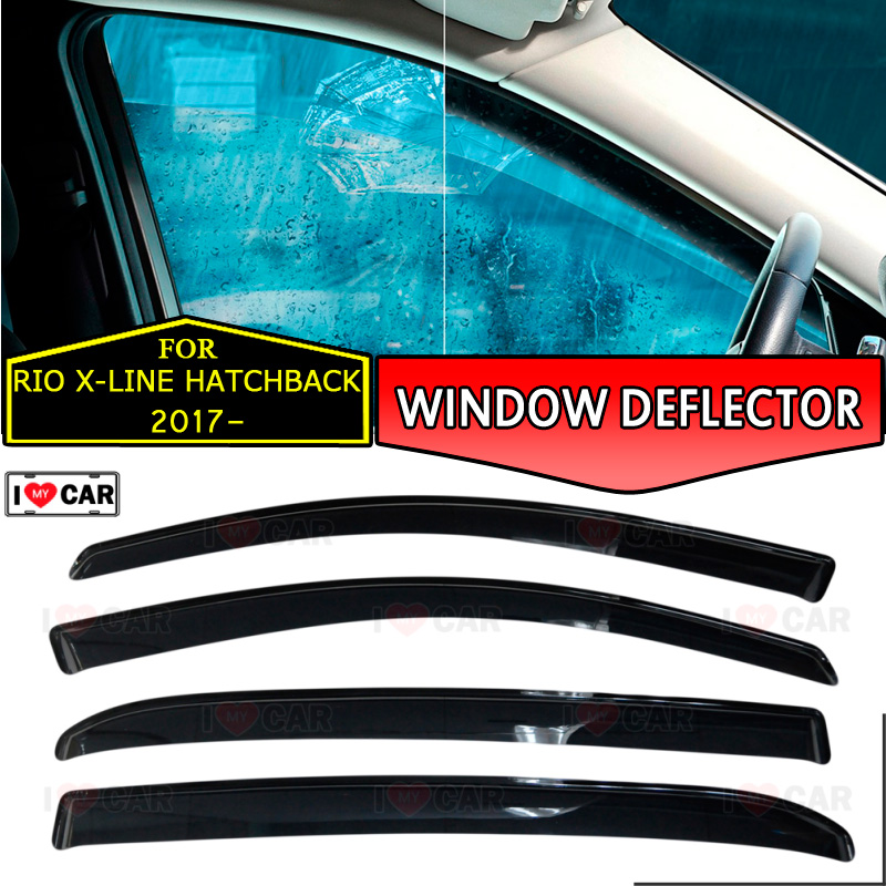 Kia Picanto X Line S 5 Door Hatchback: Window Deflector For Kia Rio X Line 2017 Hatchback Car