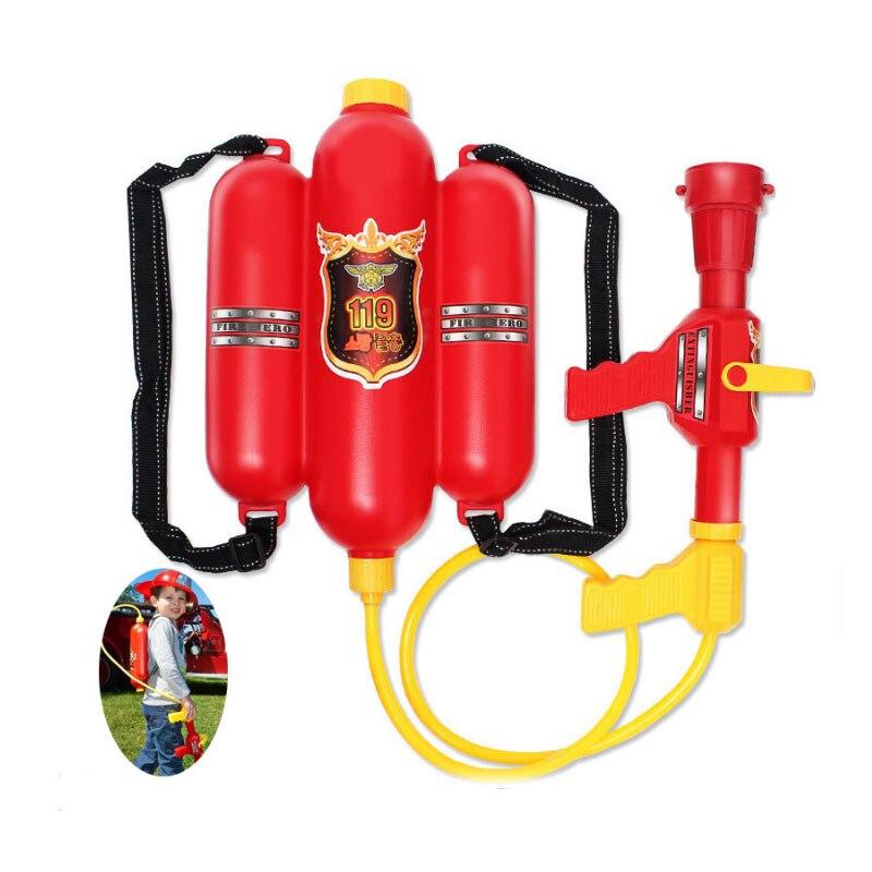 YunNasi pompier pistolet à eau sac à dos jouets de plage jeux d'été pistolet à eau sac à dos pression sable jouets pour garçons salle de bains enfants