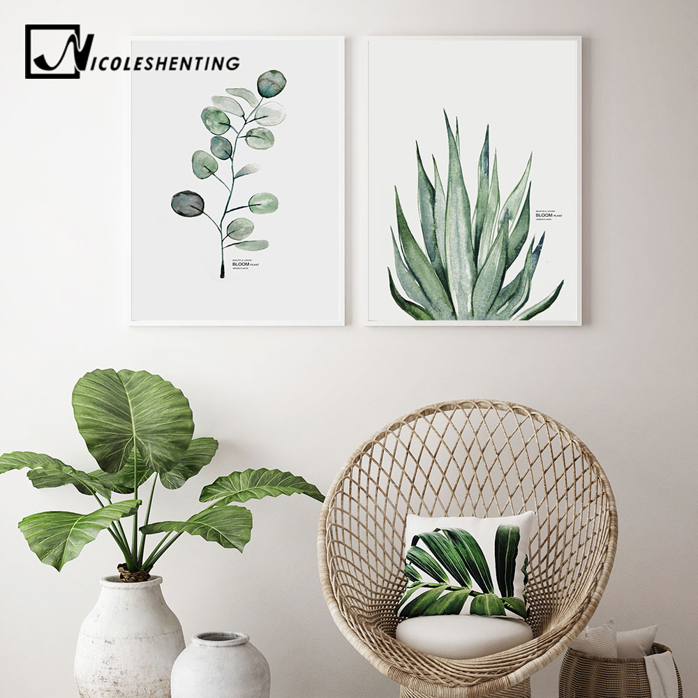 Watercolor Plants Leaf Canvas Poster Nordic Style Print Scandinavian Wall Art Painting Decoration Pictures Minimalist Home Watercolor Plants Leaf Canvas Poster Nordic Style Print Scandinavian Wall Art Painting Decoration Pictures Minimalist Home Decor