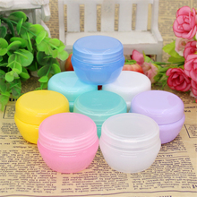 5Pcs 20g Durable Cosmetic Sample Empty Refillable Container Plastic Makeup Cosmetic Cream Jar Pot Bottle Container