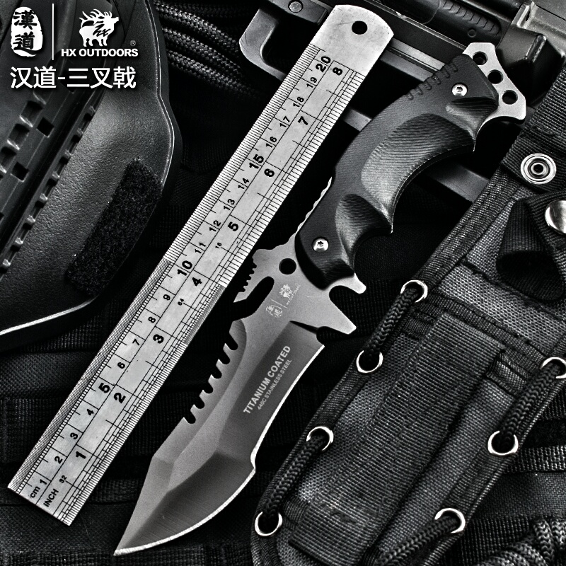 HX OUTDOORS knife Camping saber tactical fixed knife zero tolerance Hunting survival font b tools b
